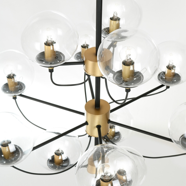 Hallbergs Perla 12 sort lysekrone