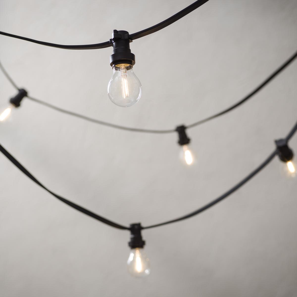 PR Bright light string grå lyslenke 7m inkl. 10stk