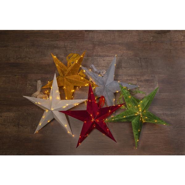 Star Velvet Stjerne 60cm Grønn batteri/timer