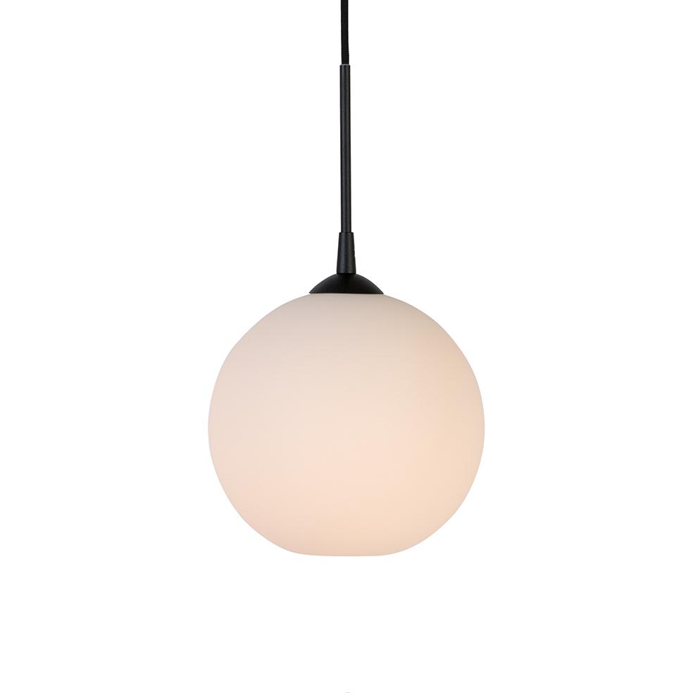 Belid Capo pendel Ø250 E27 opal/sort ledning