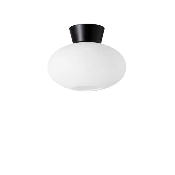 Belid Bullo taklampe Mattsvart/opal E27