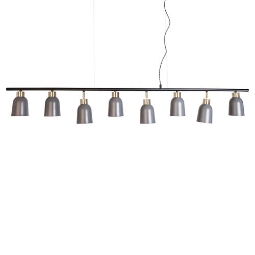 By Rydens Lemur taklampe 8-låg Grå