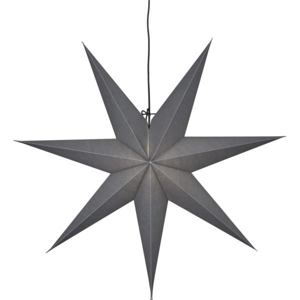 Star Ozen Stjerne vindu 70cm grå m/sort ledning