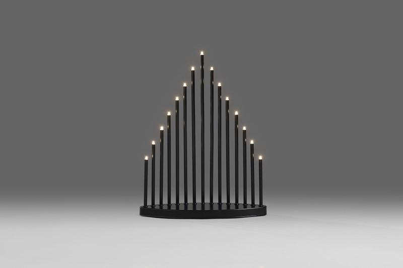 Konstsmide Adventsstake 15 LED sort