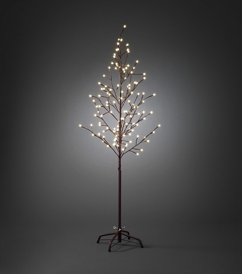 Konstsmide Brunt tre 150cm med cherry lights