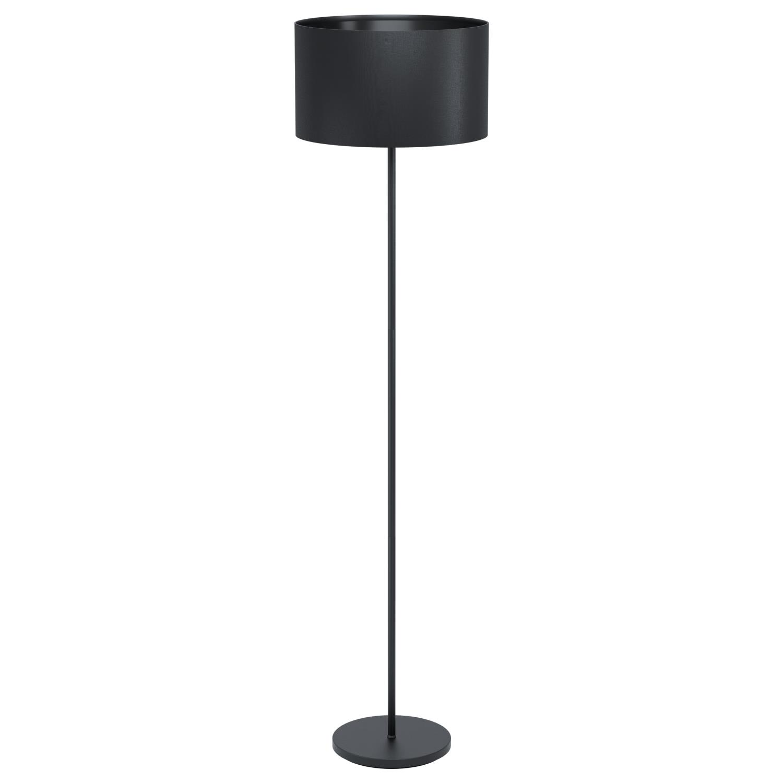 EGLO Maserlo 1 sort gulvlampe ø38