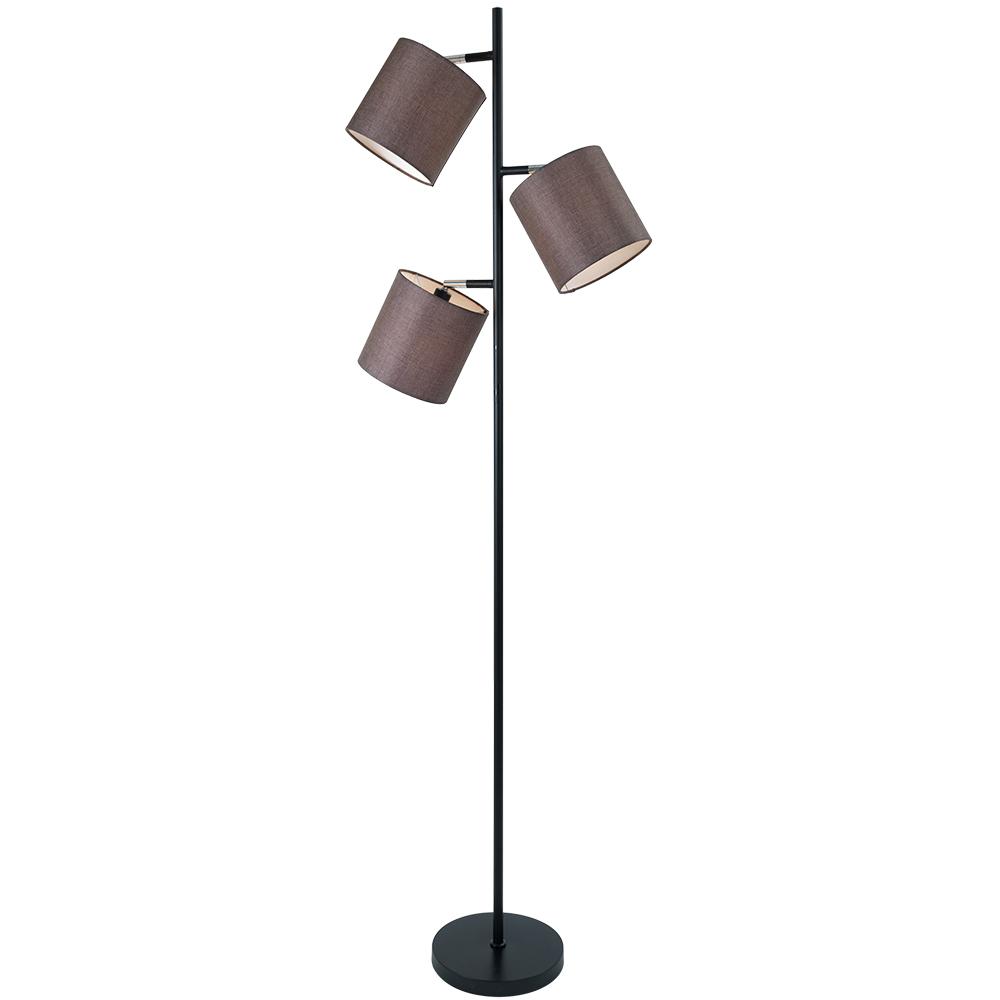 EA Viva gulvlampe 3-lys sort/brun skjerm