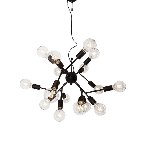 By Rydens Molekyl taklampe h40cm Ø65cm sort