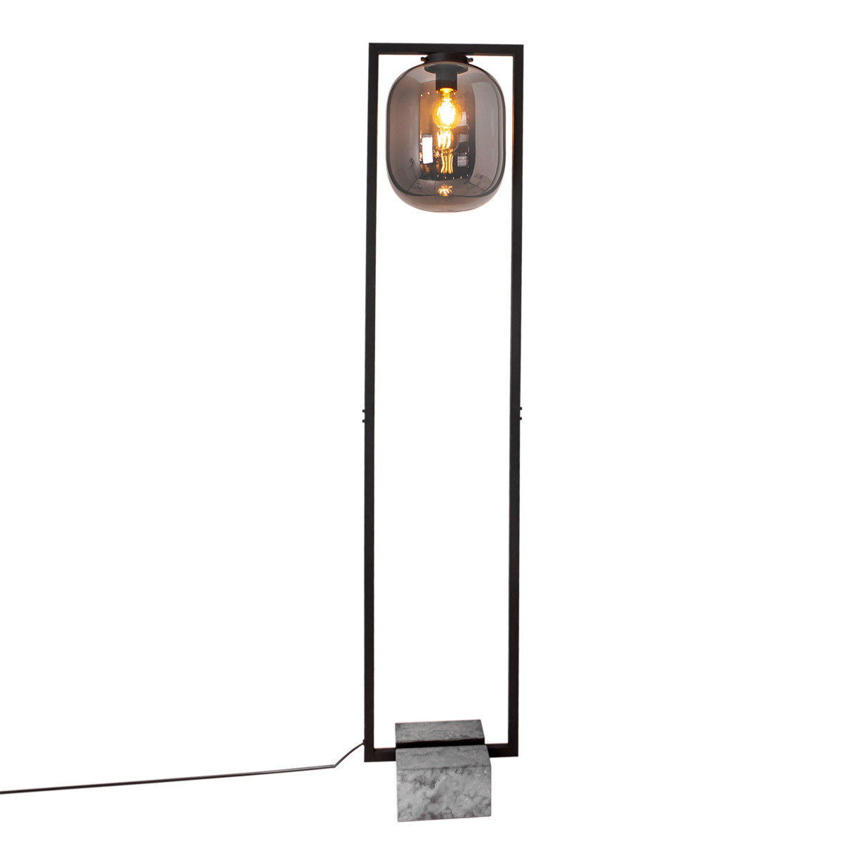 By Rydens Dixton gulvlampe H150cm sotet glass