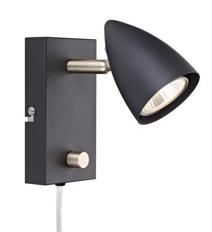MLG Ciro Vegglampe Sort/Stål