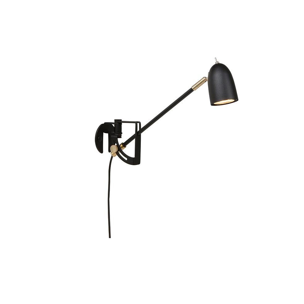 Belid Radiell Sort vegg LED