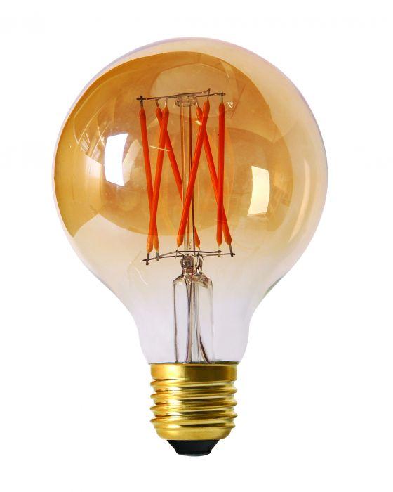 PR LED E27 2,5W ø80 dimbar amber