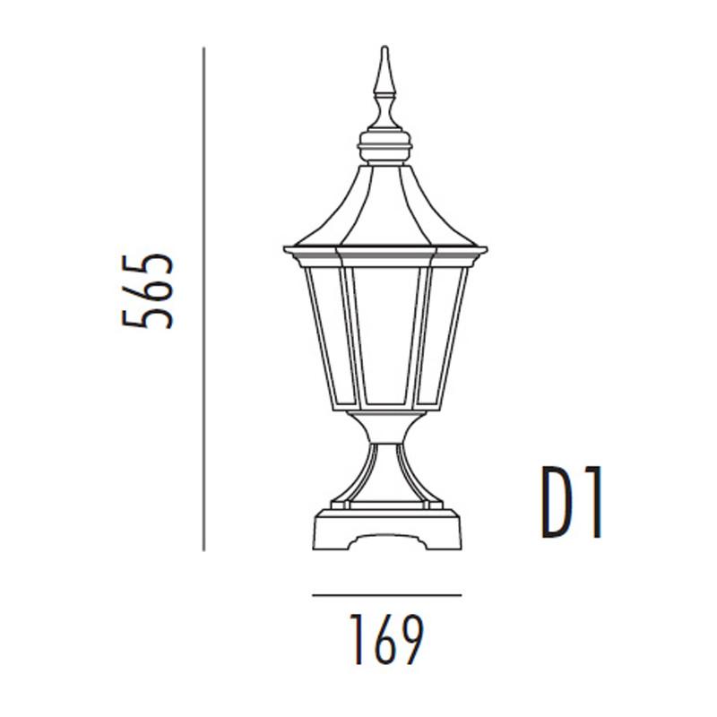 Noral Regent D1 sort Portlampe IP44