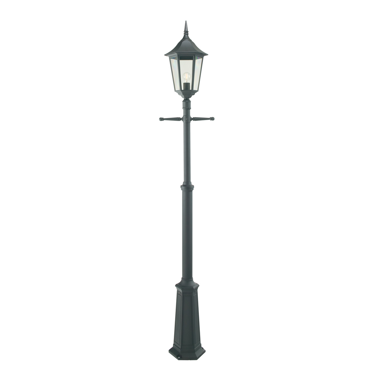 Norlys Modena 301 Sort Stolpe E27 IP44 H:193-283cm