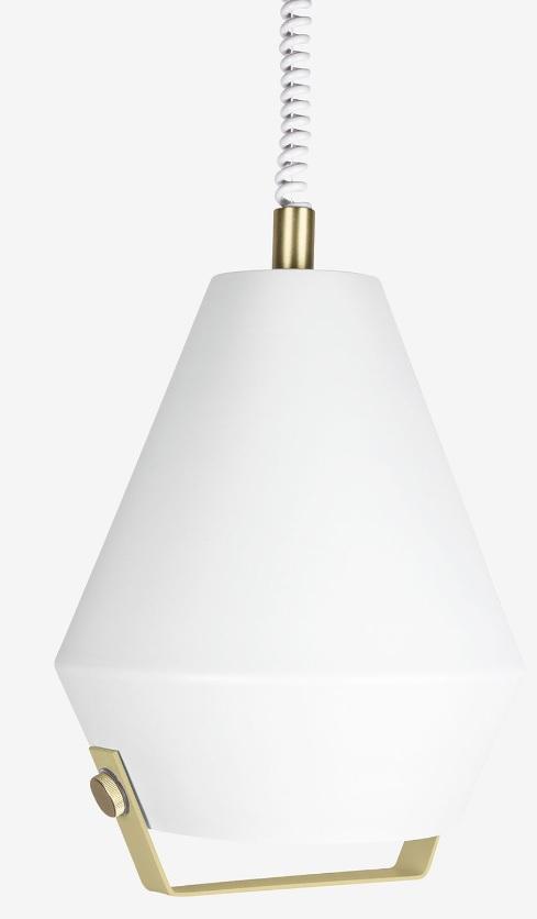 Globen Lift me pendel hvit/messing (utstilling)