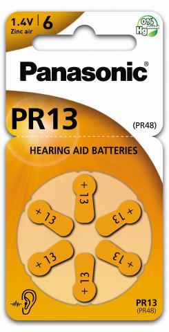 Panasonic PR13 Høreapparat Batteri 6pk