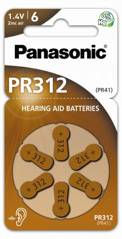 Panasonic PR312 Høreapparat Batteri 6pk