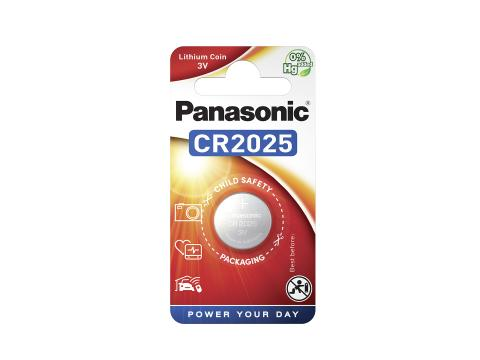 Panasonic Lithium Power Batteri CR2025 3V 2pk