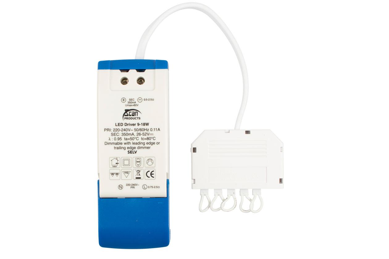Scan LED driver 9-18W dimbar