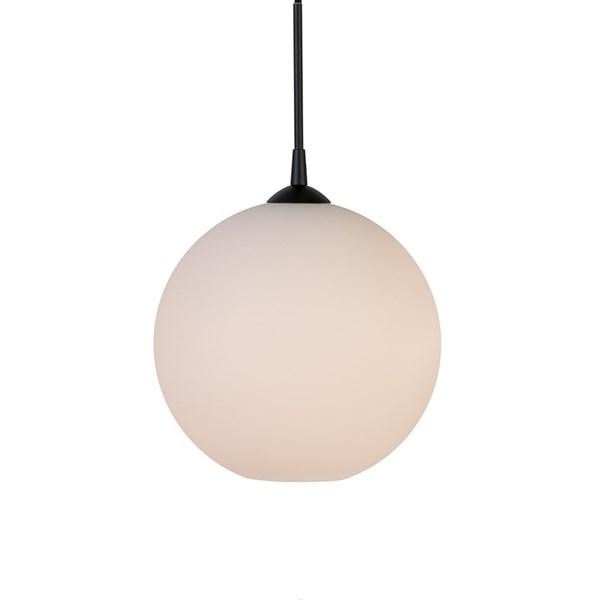 Belid Capo Ø300 E27 opal/sort ledning
