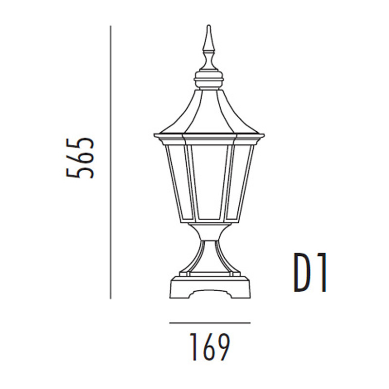 Noral Regent D1 hvit portlampe