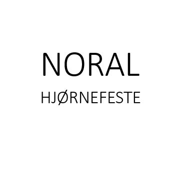 Noral hjørnefeste Trad hvit