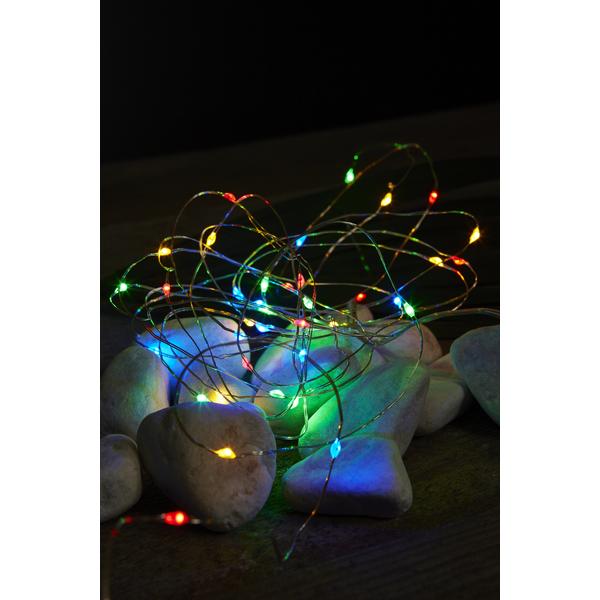 Star Dew Drop string 40 batteri/timer farget lys