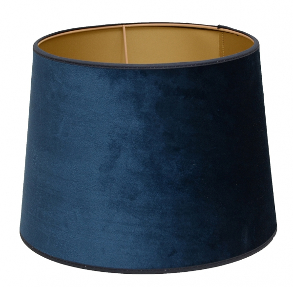 Hallbergs skjerm Roma 30 cm Blå med gullinnside