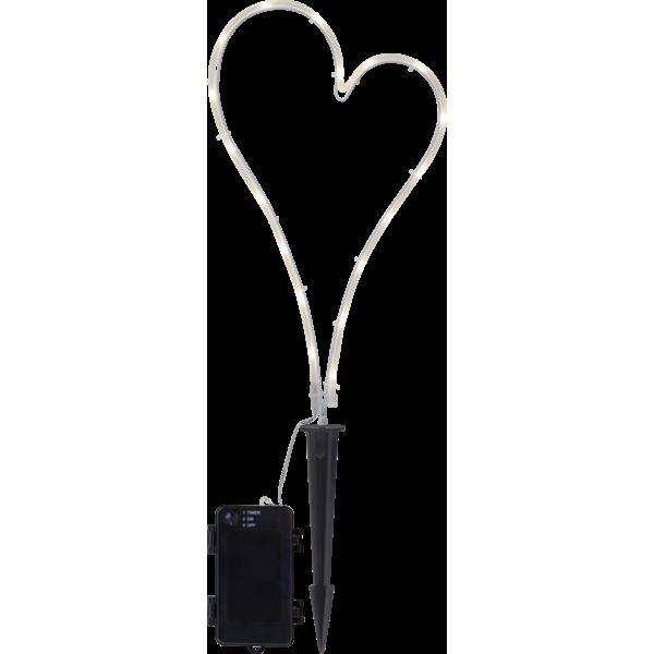 Star Dekorasjon Hjerte på batteri