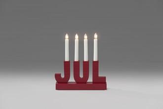 Konstsmide Adventstake 4 armet rød jul