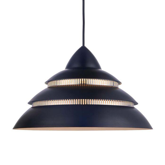 UTSTILLING Halo Design Shells Pendel Sort/krom Ø40