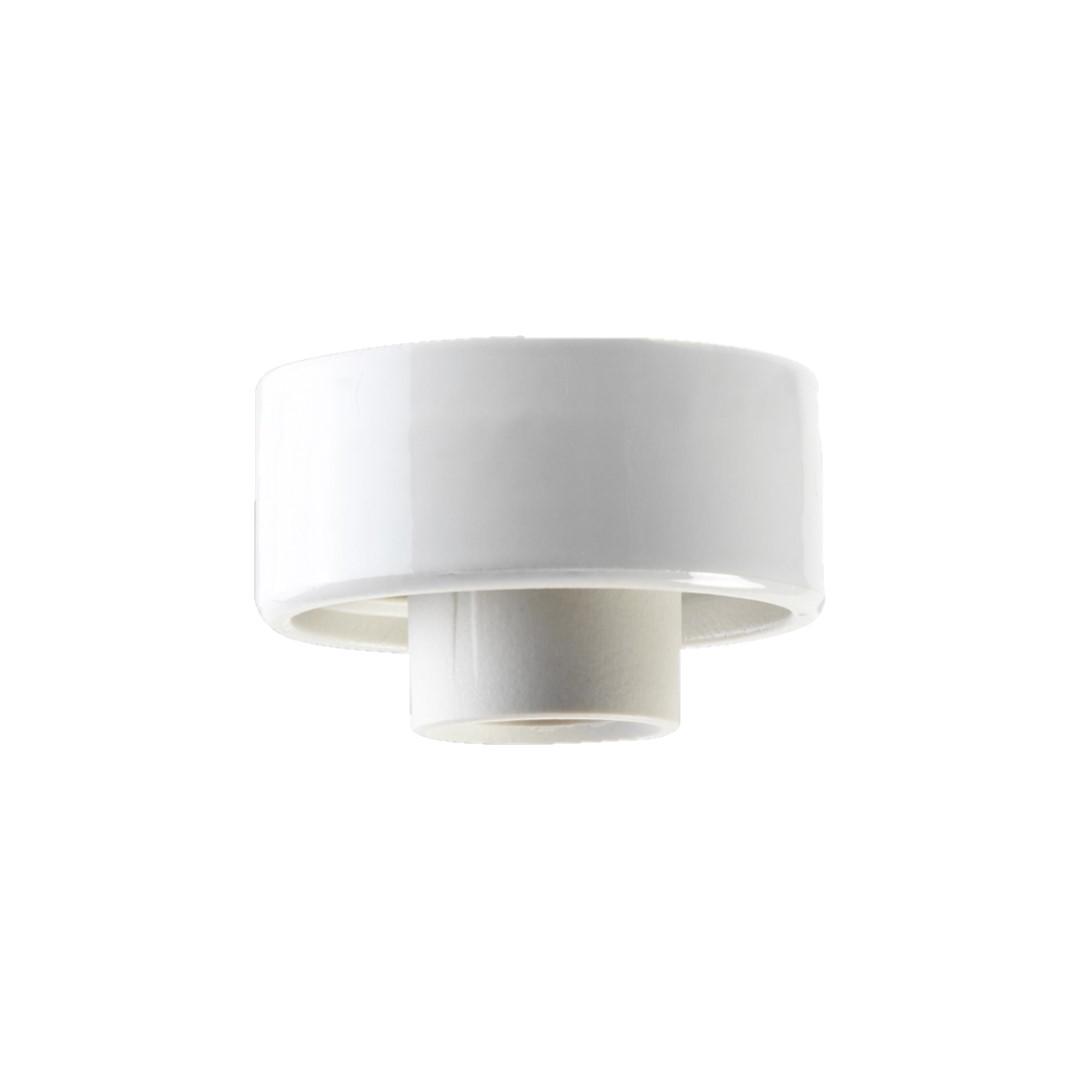 Ifø Porselenbeslag Hvit Rett 84,5mm gjenger IP20 E