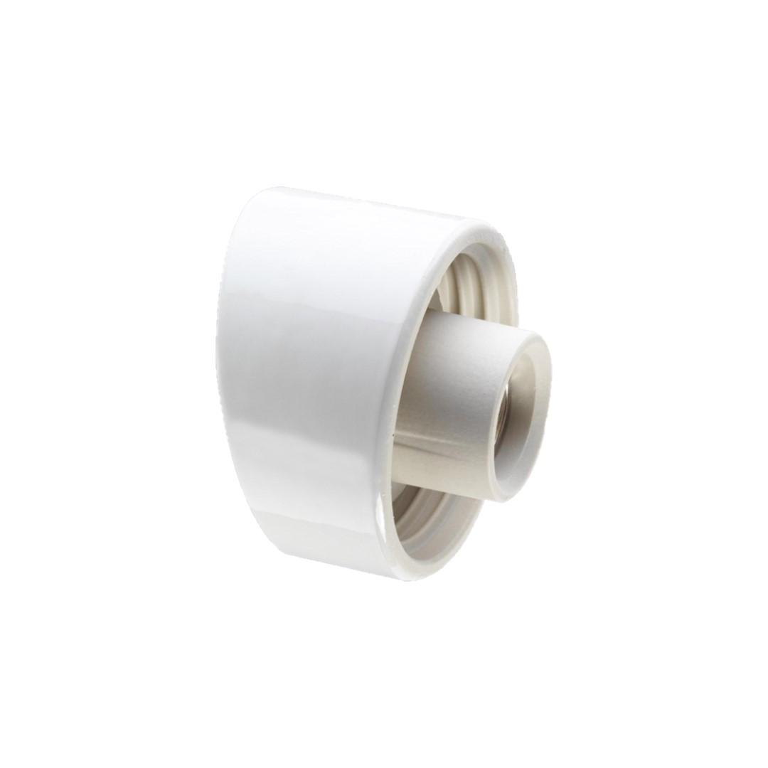 Ifø Porselenbeslag Hvit Skrå 84,5mm gjenger IP20 E
