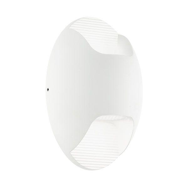 EA Isona vegg hvit 2x2,5w LED IP44