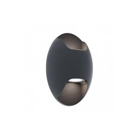EA Isona vegg antrasitt 2x2,5w LED IP44
